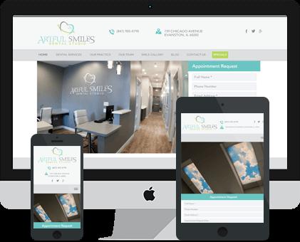 Artful Dental Smiles Studio Dental Web design Example by Unique Dental Marketing