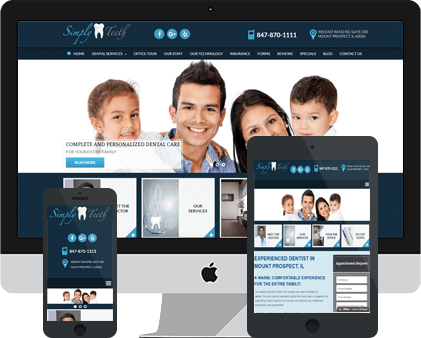 Simply Teeth Responsive Website Example by Unique Dental Marketing